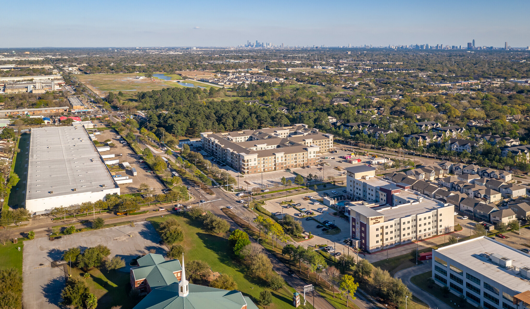 The Westerly Apartments aerial view